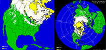 US and Northern Hemisphere Snow Cover
